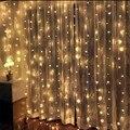 Рождественская гирлянда-занавеска с 2,5 светодиодными лампочками, 3*240 м