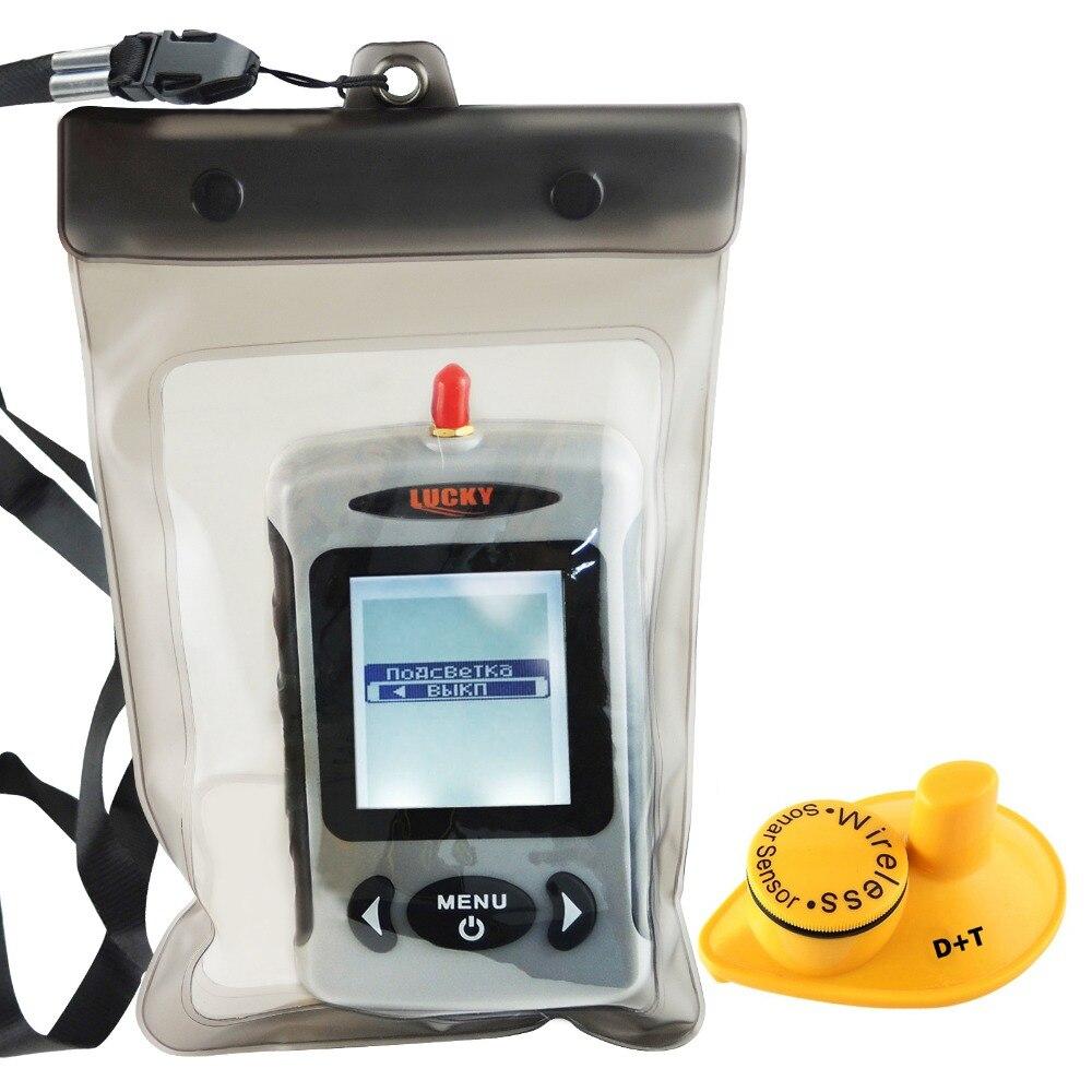LUCKY Digital 45M Wireless Sonar Sensor Fishfinder Russian Menu Fish Finder with Waterproof Bag купить эхолот humminbird fishfinder 565