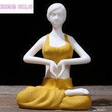 XING KILO  Creative Boutique Yoga Girl Decoration Tea Ornamental Accessories Beauty Statue and Sculpture