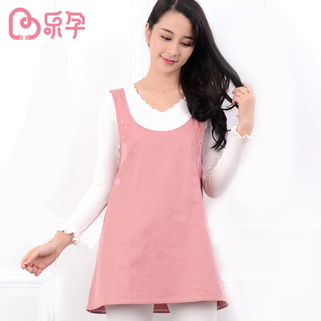 Leyun Pregnancy Tank Nursing vest Proof Radiation maternity Clothes nursing dress Cotton Maternity waistcoat pajama