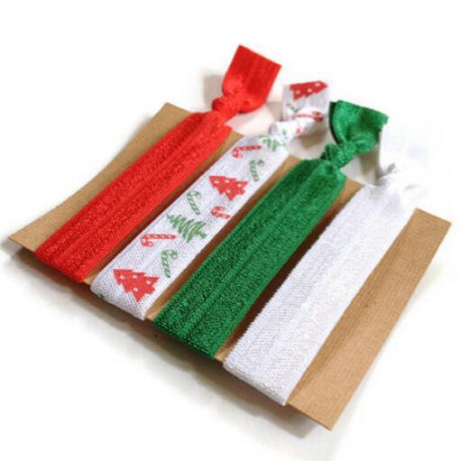 1000pcs Christmas Elastic Hair Ties 5022239da62