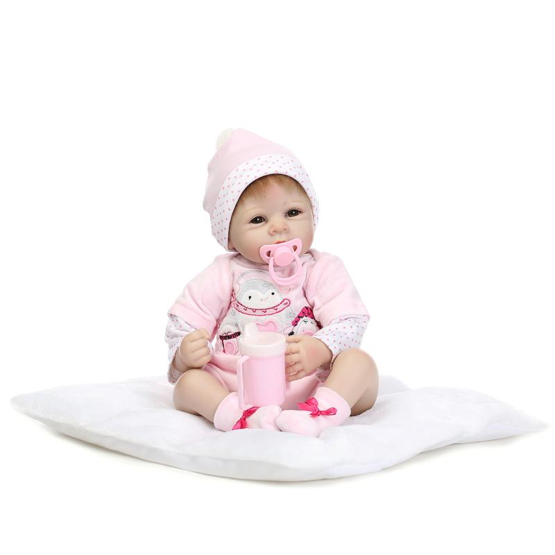22inch 52cm Silicone baby reborn dolls, lifelike doll reborn babies toys for girl princess gift brinquedos  Children's toys hot sale toys 45cm pelucia hello kitty dolls toys for children girl gift baby toys plush classic toys brinquedos valentine gifts
