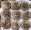Genuína pele de coelho pompom 2 pçs/lote 10 cm cor amarela natural super grande chaveiro chapéus sacos acessório com loops