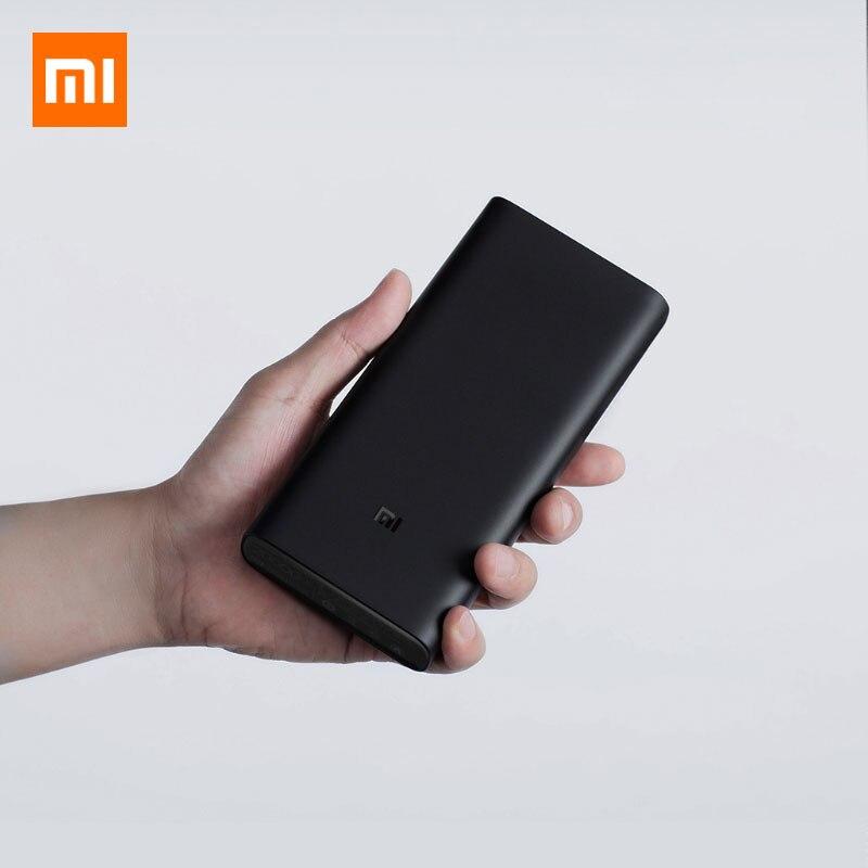 Batterie externe de xiaomi 3 20000 mAh USB-C 45 W double Charge rapide type-c double USB chargeur batterie externe pour Smartphone d'ordinateur portable
