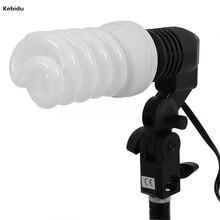 Kebidu E27 Single Head Photo Lighting Bulb Holder Socket Flash Umbrella Bracket Photography Studio Light Fitting EU/US Plug