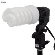 Kebidu E27 Singola Testa Foto Lighting Bulb Holder Socket Flash Umbrella Staffa Studio Fotografico Luce Raccordo EU/US Plug