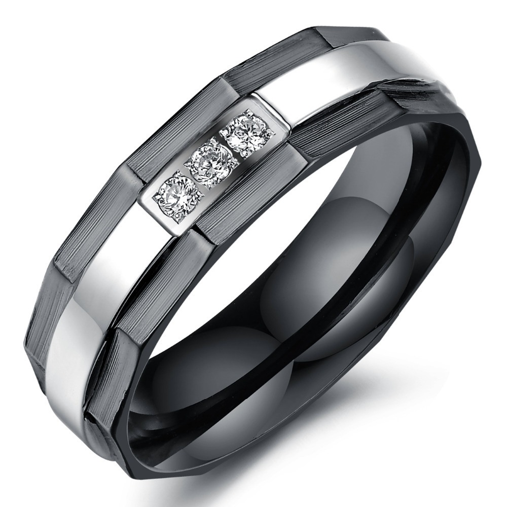 wedding ring for men and women engagement ring black ring with aaa zirconia crystal jewelry designer - Womens Black Wedding Rings
