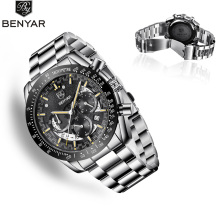 BENYAR Men's Watches Quartz Wristwatch Mens Watches Top Brand Luxury Watch Men Sport Military Watch Men Chronograph Reloj Hombre все цены