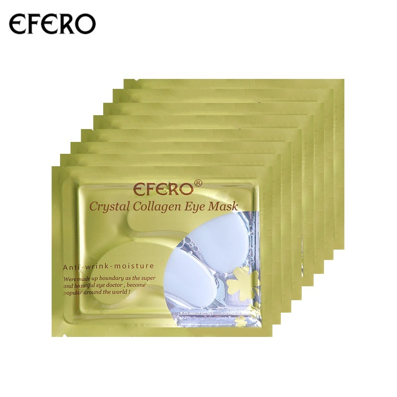 EFERO 8pair=16pcs Anti Aging Eye Mask Crystal Collagen Eye Mask Eyelid Patches Dark Circles Removal Anti-Puffiness Gel Eyes Pads mabox natural eye gel for appearance of dark circles puffiness wrinkles and bags for under and around eyes eye gel essence gel