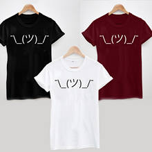 SCHOUDEROPHALEN EMOJI EMOTICON T-SHIRT T-SHIRT-COOL FUNNY SHRUGGIE TOP TEE Harajuku Tops t shirt Fashion Classic Unieke(China)