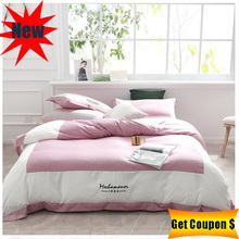 2019 new silk cotton 4pcs bedding set solid color duvet cover pillowcase bed sheet sets high quality for multi-size beds