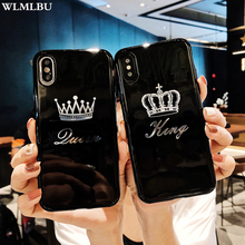 Glossy Crown Case For iPhone 8 Plus X XS XR MAX Case King Queen Cute TPU Soft Cover Cases For iPhone 6S 6 7 8 Plus Black 23 8 gw2406z glossy black