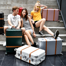 Aluminum frame alloy universal wheels trolley luggage fashion personality male commercial travel bag,20 24 26 29inches luggage