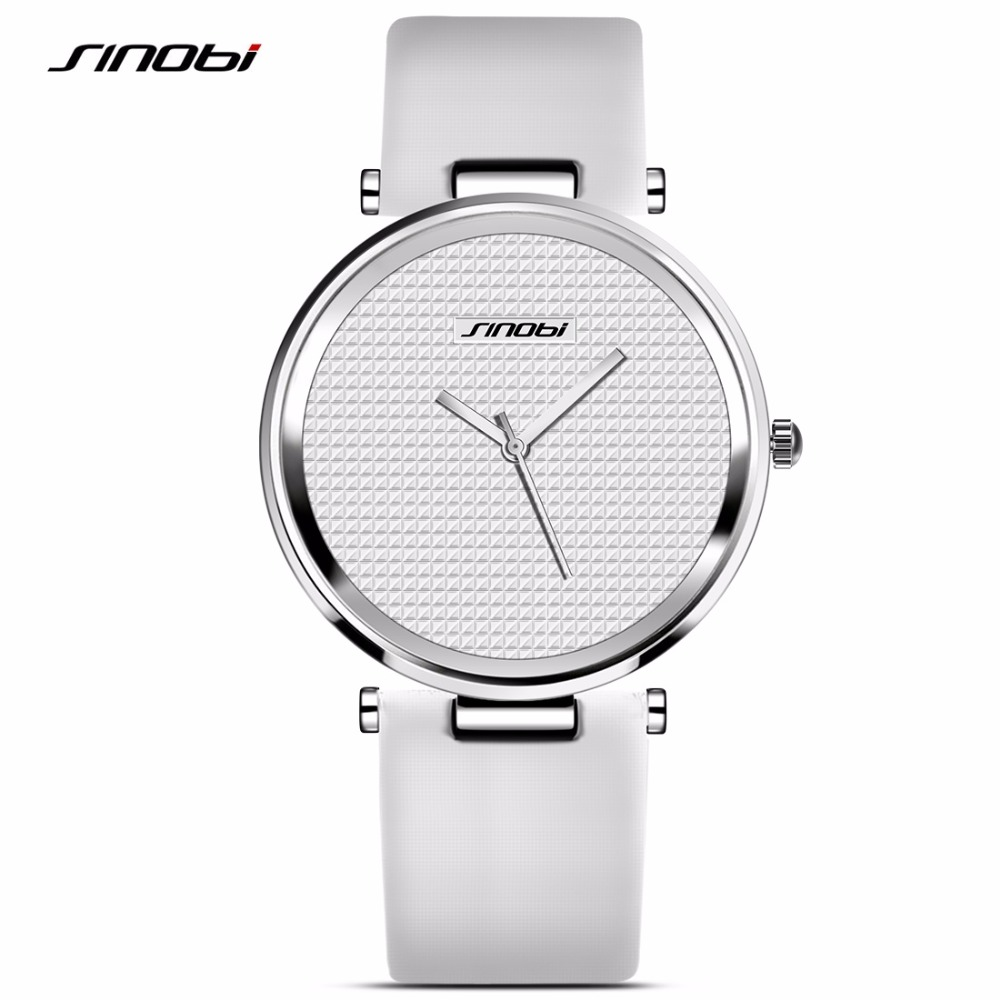 SINOBI High Quality Feminino Fashion& Casual Gentleman Watch Water Resistant Rhinestone Quartz Wristwatches as Gift 2017 high quaitily casual fashion 024