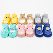 Kids Shoes Autumn Winter For Toddler Newborn Baby Cartoon First Walks Baby Girls Boys Anti-Slip Socks Slipper Shoes Boots 2019(China)