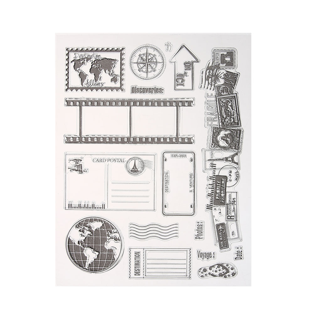 Transparent Clear Stamp Silicone Seals Scrapbooking Card Stamps for DIY Scrapbooking Photo Album Decorative Clear Stamp Sheets lovely bear and star design clear transparent stamp rubber stamp for diy scrapbooking paper card photo album decor rm 037