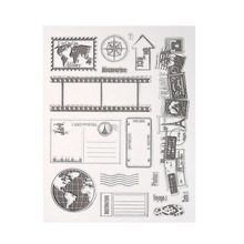 Transparent Clear Stamp Silicone Seals Scrapbooking Card Stamps for DIY Scrapbooking Photo Album Decorative Clear Stamp Sheets