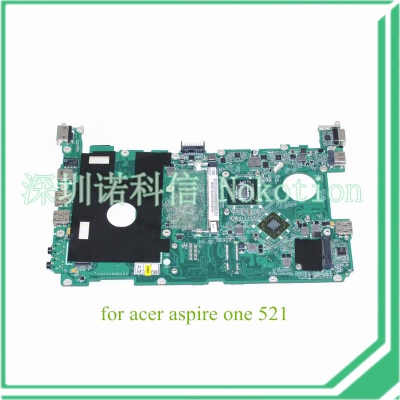 MB SBT06 004 DA0ZH9MB6D0 REV D MBSBT06004 For acer aspire one 521 laptop motherboard AMD Athlon