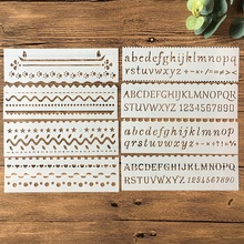 Buy New 8Pcs/Set 18cm Alphabet Letters DIY Layering Stencils Painting Scrapbook Coloring Embossing Album Decorative Card Template directly from merchant!