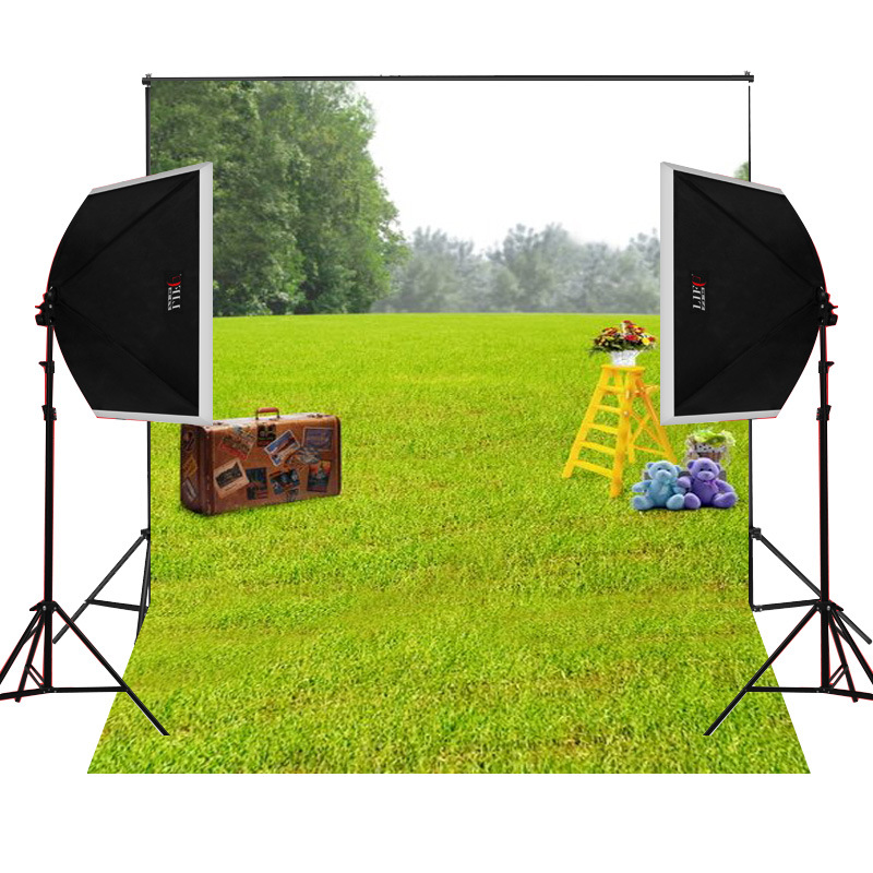 Black suitcase ladder scenic for kids photos camera fotografica studio vinyl photography background backdrop cloth digital props