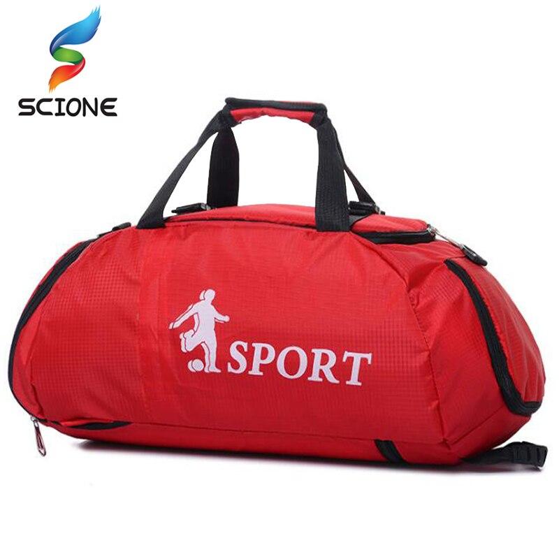 Hot Professional Large Sports Gym Bags Outdoor Waterproof Backpack Men/Women Packable Duffle Yoga Shoulder Bag Travel Handbag