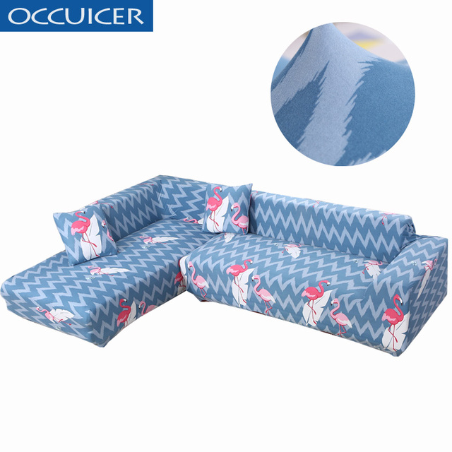 Premium Quality Sofa Covers For L Shape Polyester Soft Stretch Slipcovers Sectional