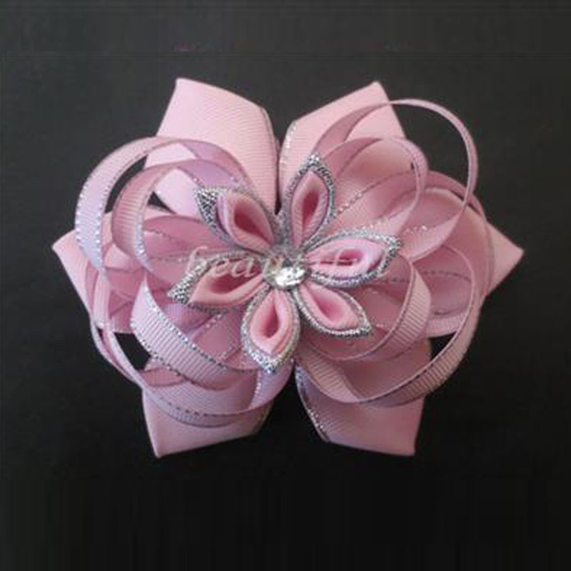 """Blossom Bow Clip 12 BLESSING Happy Girl Hair Accessories Rainbow 4.5/"""" B"""