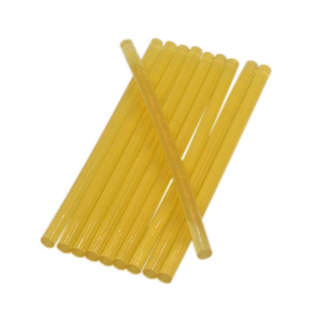 10PCS 7x150MM Yellow Hot Melt Glue Sticks 7MM For Electric Glue Gun...