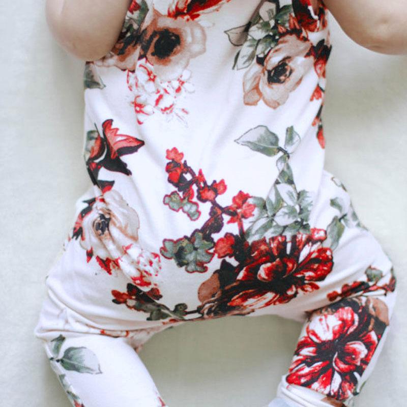 Aranyos újszülött romper nyári ruhát ruhát lány virágos - Bébi ruházat - Fénykép 6