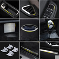 Car-styling interior trim strip chrome decoration sticker ring Accessories For Ford Focus 2 MK2 Sedan hatchback 2005-2016