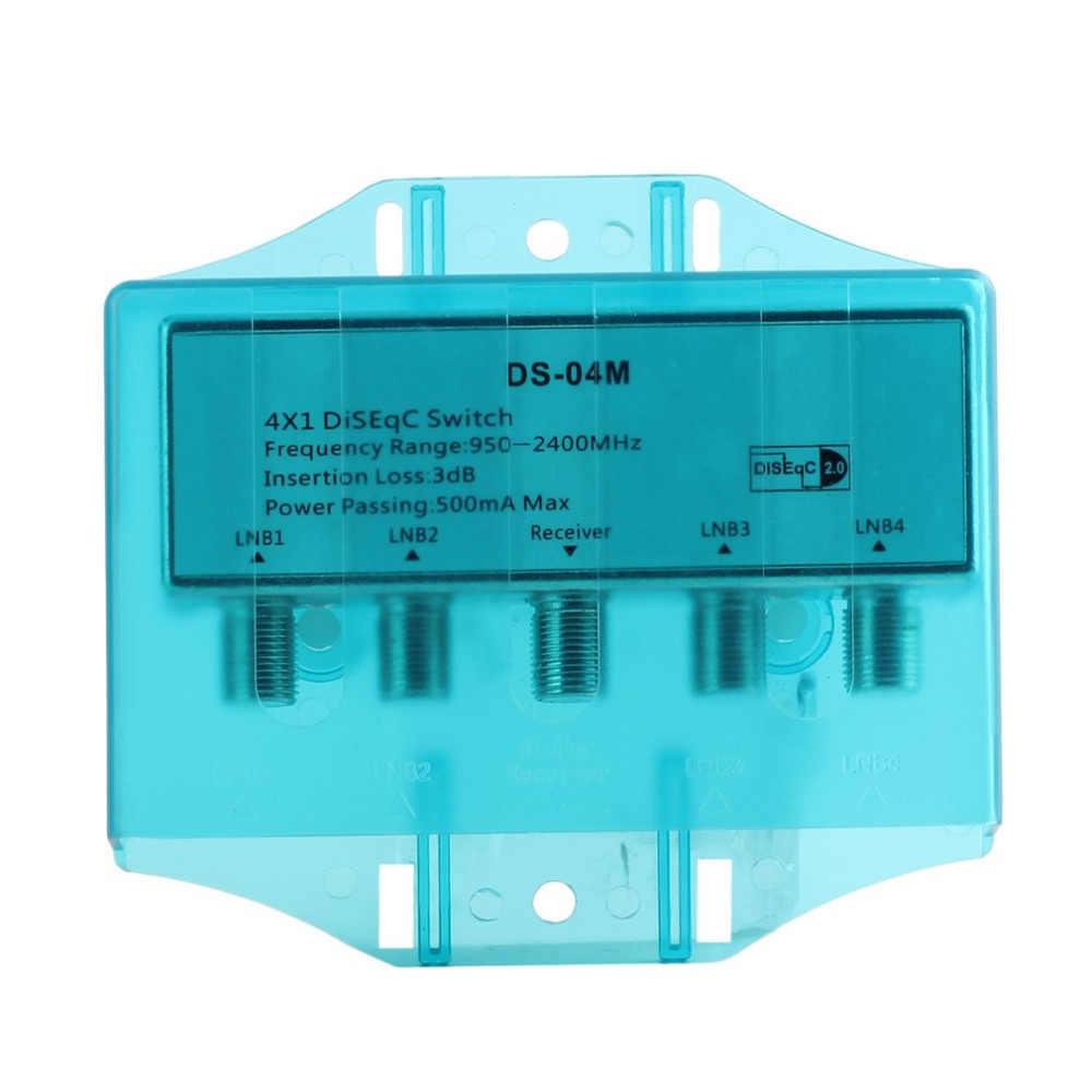 Шт. 1 шт. Супер Мини Новый DS-04M 4x1 Вт Премиум DiSEqC переключатель 2,0 Модель спутниковый lnb переключатель FTA блюдо LNBS или спутниковый ресивер