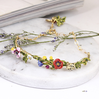 Flowers And Plants Series Powder Bonus FLOWER Contend In Beauty And Brightness Rattan Bracelet Support Batch