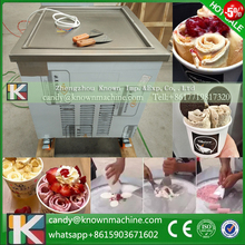 Free shipping thailand flat square pan fried ice cream roll machine square Pan Stainless steel Ice Pan  roll ice cream maker