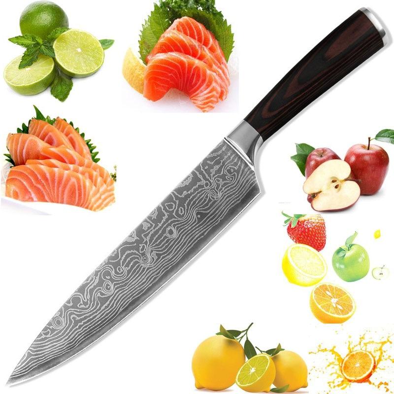 ldz marca miglior coltello da cucina 8 pollice chef coltello fatto di 7cr17 acciaio e manico