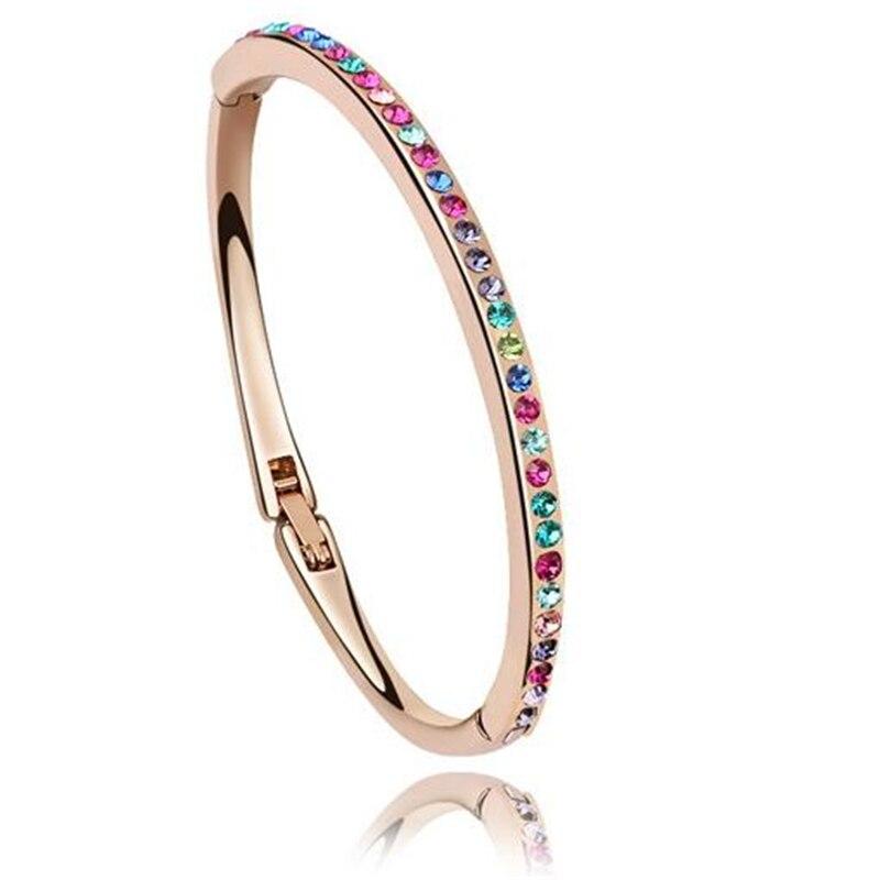 Small Wrist Austrian Crystal Bangle Bracelet Children Jewelry For
