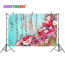 SHENGYONGBAO Art Cloth Custom Photography Backdrops Prop Board  wall sea theme Photo Studio Background S17924-10