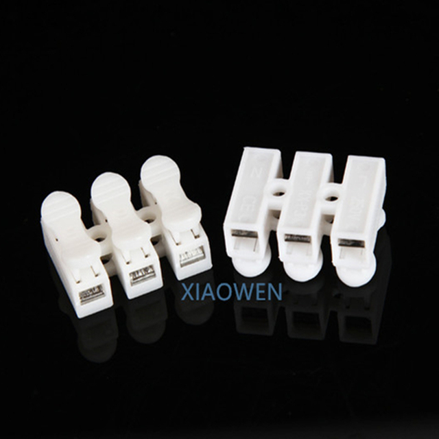 Electrical Wire Connectors20Pcs3P Fast Terminal Wire Connector Press Type 3  Bit Butt LED Lamps And Lanterns