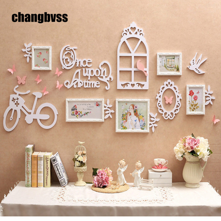 European Garden Style 5pcs/set Photo Frame +3D Wall Decorations Solid Wood Carved Frames Home Decor Picture Frame Set molduraEuropean Garden Style 5pcs/set Photo Frame +3D Wall Decorations Solid Wood Carved Frames Home Decor Picture Frame Set moldura