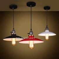 Estilo Loft Industrial Ferro Droplight Edison Luminária Luminárias Para Sala De Jantar Do Vintage RH Suspensão Luz Iluminação Interior