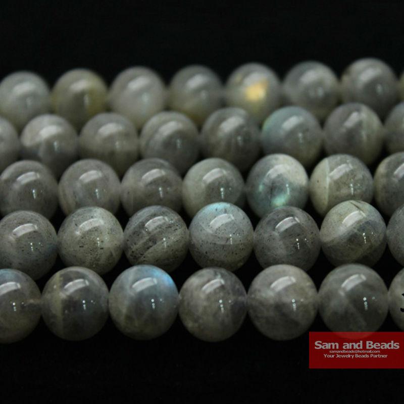 Оптовая продажа, бусины из натурального камня голубого Лабрадорита 4, 6, 8, 10, 12 мм, выберите размер для самостоятельного изготовления браслет...