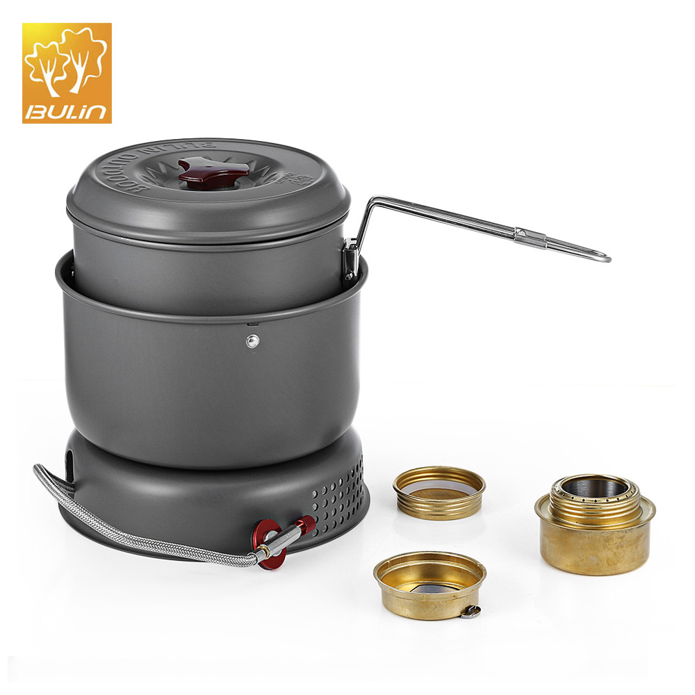 BULIN BL100 Q1 Portable Outdoor Camping Stove Gas Alcohol Stainless Steel Outdoor Stove Picnic Dual use