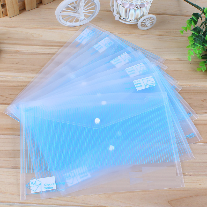 5pcs/lot High Capacity Transparent File Folder A4 For Documents A4 Document Bag Clear File Bag Office School Stationery