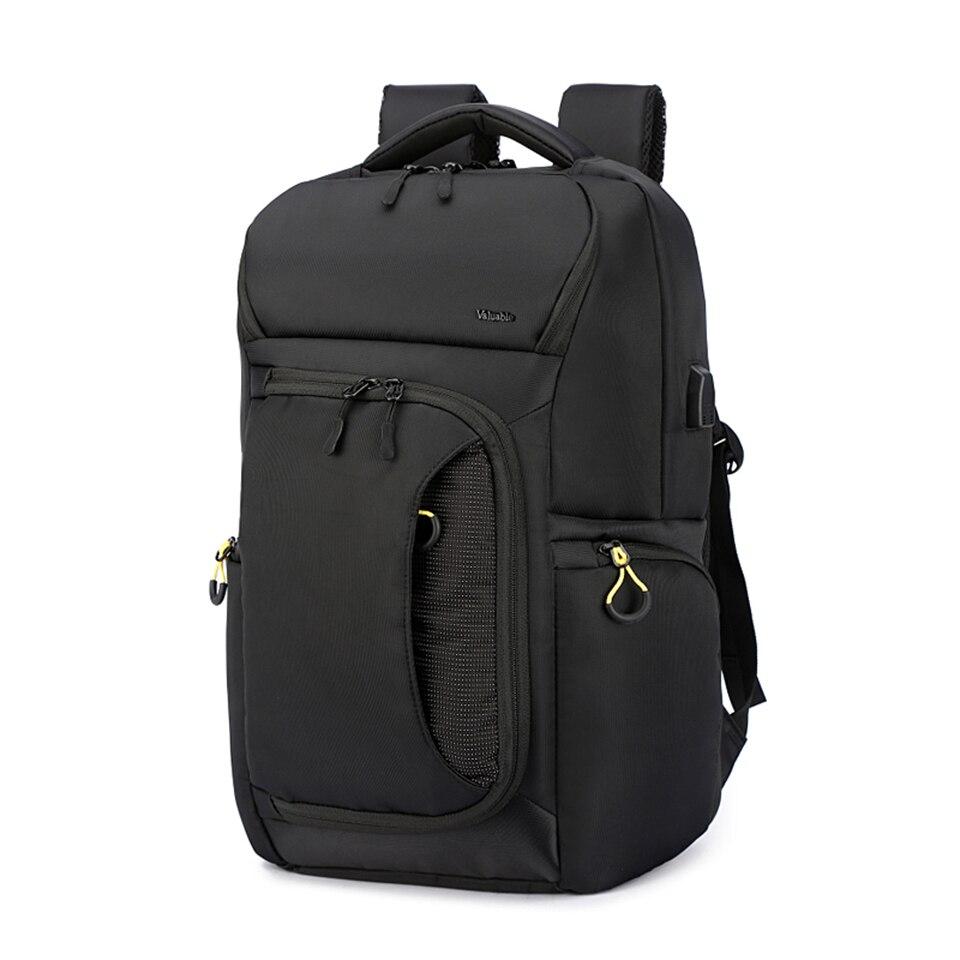 Ordinateurs portables d'entreprise sac à dos 15.6 pouces homme étudiant sac à dos imperméable voyage sacs à dos USB charge mode femmes grands sacs
