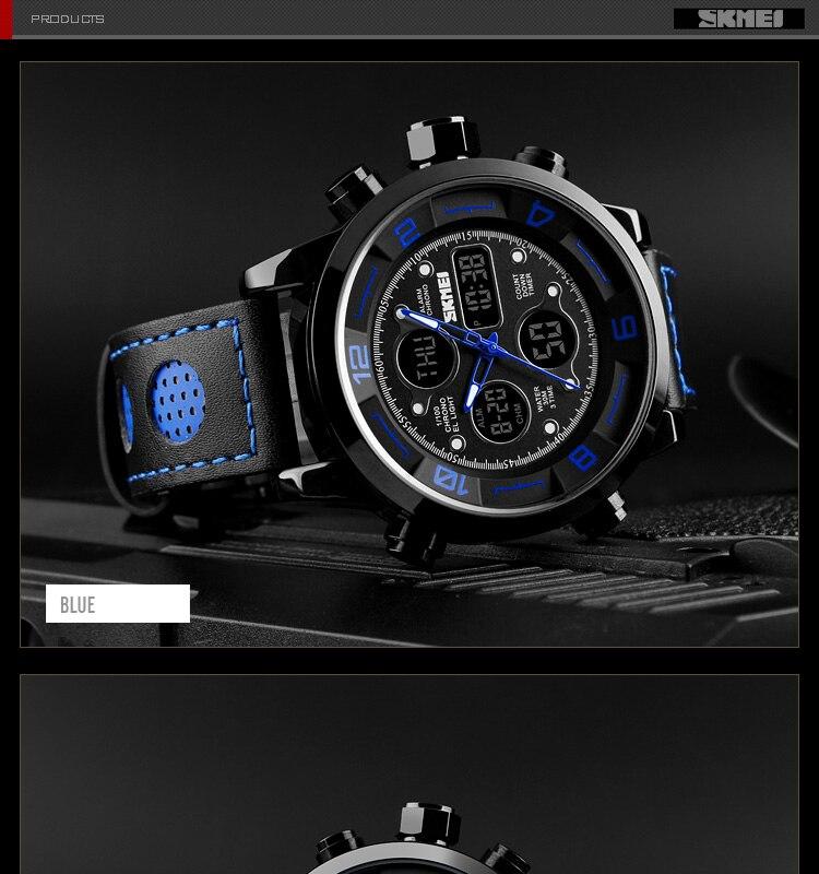 SKMEI 2019 Men\`s Wrist Watches Top Brand Luxury Watch Men Sports Leather Watches Business Digital Watch For Men reloj hombre (13)