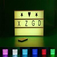Kleurrijke A4 Type USB Symbool Filmische Cinema Licht Up Doos Teken Lichttafel Prikbord Batterij Aangedreven Nachtlampje Tafel Verlichting