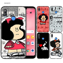 Silicone Case Cover for Huawei P20 P10 P9 P8 Lite Pro 2017 P Smart+ 2019 Nova 3i 3E Phone Cases Mafalda(China)