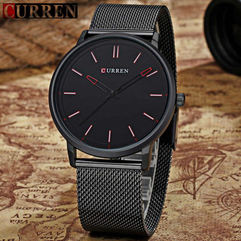 CURREN Luxury Brand Relogio Masculino Date Leather Casual Watch Men Sports Watches Quartz Military Wrist Watch Male Clock 8233 curren watch men brand luxury military quartz wristwatch fashion casual sport male clock leather watches relogio masculino 8284