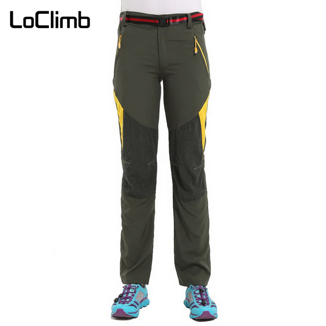 c4332ef87 US $17.99 40% OFF|LoClimb Women's Stretch Outdoor Camping Trip Hiking Pants  Summer Sports Trousers For Women Tourism Climbing Trekking Pants,AW132-in  ...