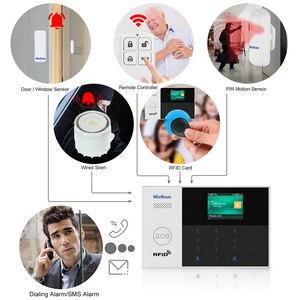 Image 5 - Marlboze WIFI GSM GPRS Alarm system APP Fernbedienung RFID karte Arm Entwaffnen mit farbe bildschirm SOS taste Sprachen umschaltbar