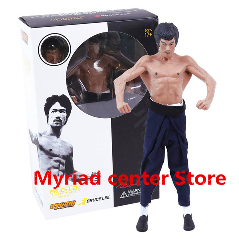 2017NEW Bruce Lee  Double head Collectibles The Martial Artist Series NO.1 Bruce Lee 1/12 Premium Figure Classic Toys Gift zy540 duncan bruce the dream cafe